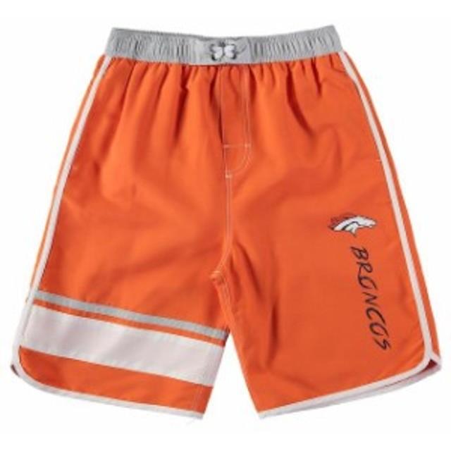 Outerstuff アウタースタッフ スポーツ用品  Denver Broncos Youth Orange/Gray Color Blocked Swim Trunks