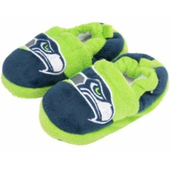 Forever Collectibles フォーエバー コレクティブル シューズ スリッパ Seattle Seahawks Toddler Colorblock Slid