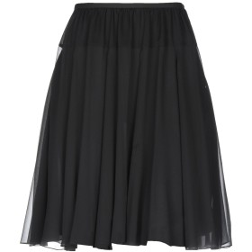 《期間限定セール開催中!》SAINT LAURENT レディース ひざ丈スカート ブラック 40 シルク 100%
