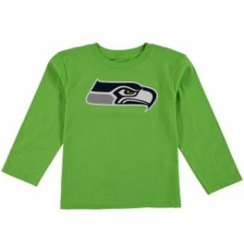 Outerstuff アウタースタッフ スポーツ用品 Seattle Seahawks Preschool Neon Green Team Logo Long Sleeve T-Shirt