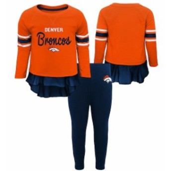 Outerstuff アウタースタッフ スポーツ用品 Denver Broncos Girls Toddler Orange/Navy Mini Formation Set