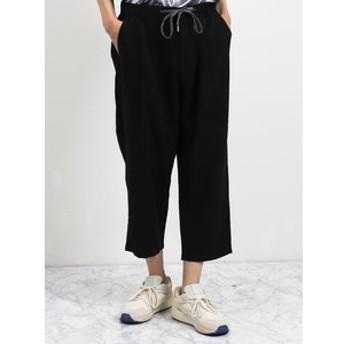 【semantic design:パンツ】麻レーヨン クロップドパンツ