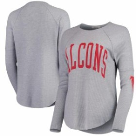 Junk Food ジャンク フード スポーツ用品  Junk Food Atlanta Falcons Womens Heathered Gray Offside Long Sleeve Thermal