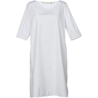 《セール開催中》MARNI レディース ミニワンピース&ドレス ホワイト 40 100% コットン