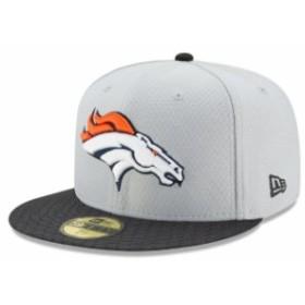 New Era ニュー エラ スポーツ用品  New Era Denver Broncos Gray 2017 Sideline 59FIFTY Fitted Hat