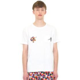 SALE開催中【グラニフ:トップス】Tシャツ/ウイルバーポケット(ぞうのエルマーショートスリーブティー)