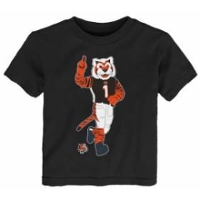 Outerstuff アウタースタッフ スポーツ用品  Cincinnati Bengals Toddler Black Standing Team Mascot T-Shirt