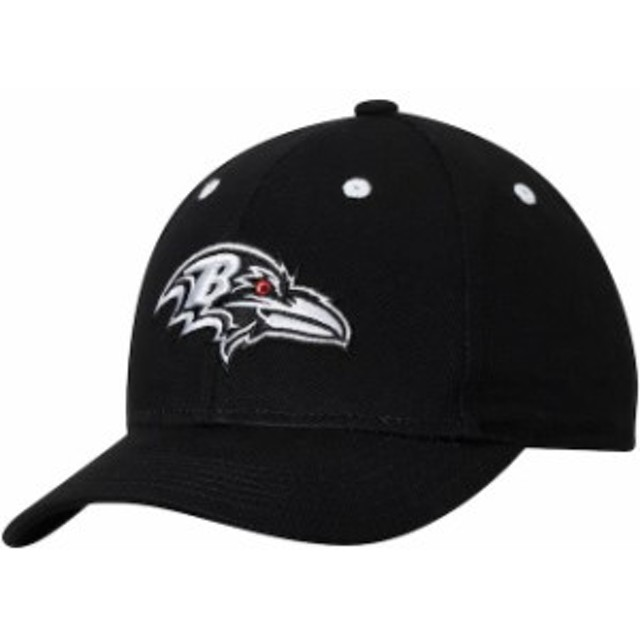 3c1980360e99b7 Outerstuff アウタースタッフ スポーツ用品 Baltimore Ravens Youth Black/White Structured  Adjustable Hat