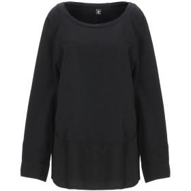 《セール開催中》EUROPEAN CULTURE レディース T シャツ ブラック L コットン 97% / ポリウレタン 3%
