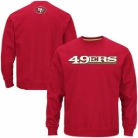 Majestic マジェスティック 服 スウェット Majestic San Francisco 49ers Scarlet Winning Field Goal Crew Sweatshirt