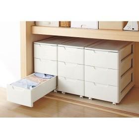 押入れ用キャスター付き樹脂チェスト - セシール ■カラー:ホワイト ■サイズ:B(幅44cm)