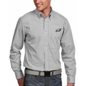 Antigua アンティグア シャツ ポロシャツ Antigua Philadelphia Eagles White Associate Woven Button-Down Shirt