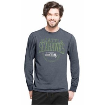 47 フォーティーセブン スポーツ用品 47 Seattle Seahawks College Navy Forward Cadence Long Sleeve T-Shirt