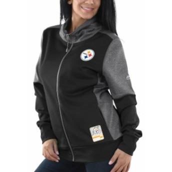 Majestic マジェスティック アウターウェア ジャケット/アウター Majestic Pittsburgh Steelers Womens Black S