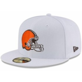 New Era ニュー エラ スポーツ用品  New Era Cleveland Browns White Omaha 59FIFTY Fitted Hat