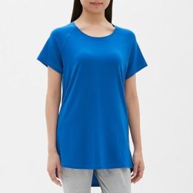 (GU)クルーネックT(半袖)GS BLUE S