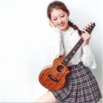 アコースティック ウクレレ ハンドメイド マホガニー 23インチ ハワイアン 4弦ギター
