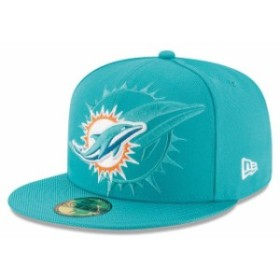 New Era ニュー エラ スポーツ用品  New Era Miami Dolphins Youth Aqua 2016 Sideline Official 59FIFTY Fitted Hat