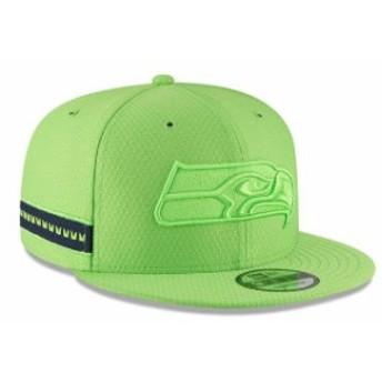 New Era ニュー エラ スポーツ用品 New Era Seattle Seahawks Youth Neon Green 2018 NFL Sideline Color Rush 9FIFTY Snapb