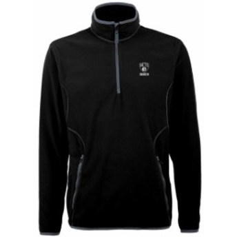 Antigua アンティグア スポーツ用品  Antigua Brooklyn Nets Black Ice 1/4 Zip Lightweight Pullover Jacket