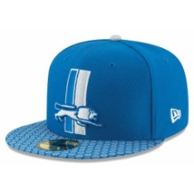 New Era ニュー エラ スポーツ用品  New Era Detroit Lions Blue 2017 Sideline Historic 59FIFTY Fitted Hat