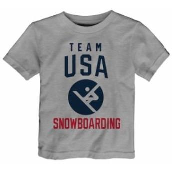 Outerstuff アウタースタッフ スポーツ用品 Team USA Toddler Heather Gray 2018 Winter Olympics Snowboarding Team Spo