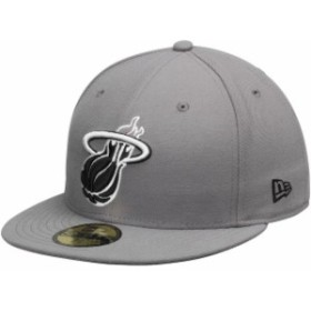 New Era ニュー エラ スポーツ用品  New Era Miami Heat Gray/Black 59FIFTY Fitted Hat