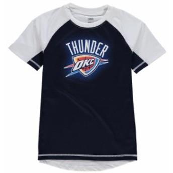 Outerstuff アウタースタッフ スポーツ用品  Oklahoma City Thunder Youth Navy/White Color Block Rash Guard T-Shirt