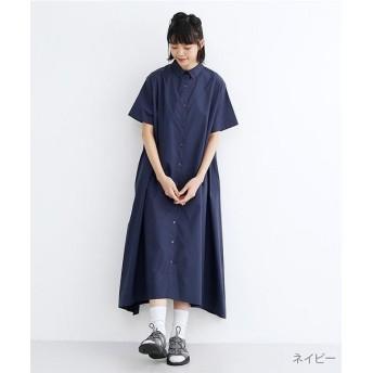 メルロー アシメヘムシャツワンピース レディース ネイビー FREE 【merlot】