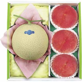 マスクメロン&御坂の水蜜桃詰合せ FM-50 フルーツ