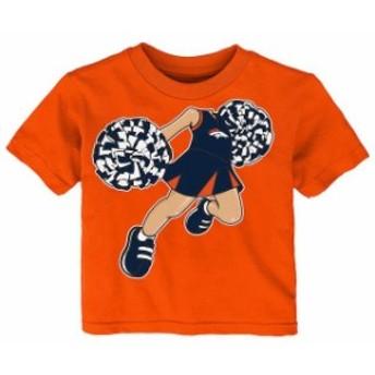 Outerstuff アウタースタッフ スポーツ用品 Denver Broncos Girls Infant Orange Pom Pom Cheer T-Shirt