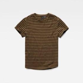 gstar ジースター ファッション 男性用ウェア Tシャツ gstar starkon-stripe-round-neck