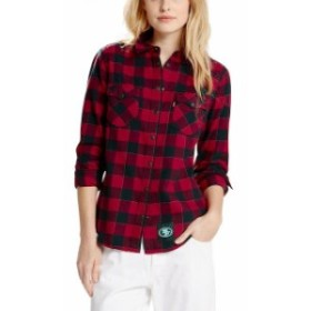 Levis リーバイス シャツ Tシャツ Levis San Francisco 49ers Womens Scarlet Barstow Western Long Sleeve Button-Up Shirt