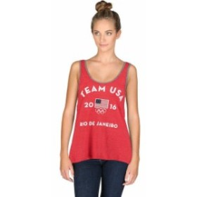 Outerstuff アウタースタッフ スポーツ用品  Team USA Womens Red Very Official Tri-Blend Tank Top