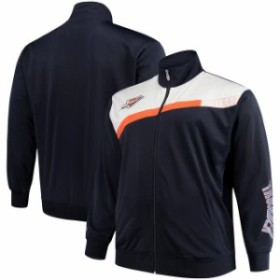 Majestic マジェスティック スポーツ用品  Majestic Oklahoma City Thunder Navy/White Tricot Full-Zip Track Jacket
