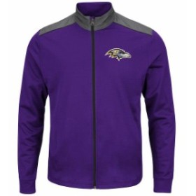 Majestic マジェスティック スポーツ用品  Majestic Baltimore Ravens Purple Team Tech Full-Zip Jacket