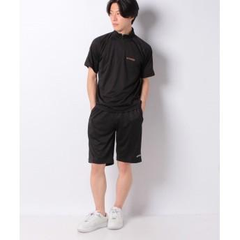 マルカワ ケイパ ドライ メッシュ ハーフジップ 半袖 上下セット メンズ 柄1 XL 【MARUKAWA】