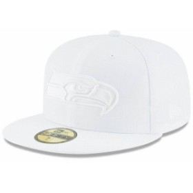 New Era ニュー エラ 服  New Era Seattle Seahawks White on White 59FIFTY Fitted Hat