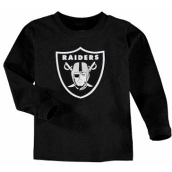 Outerstuff アウタースタッフ スポーツ用品 Oakland Raiders Toddler Team Logo Long Sleeve T-Shirt - Black