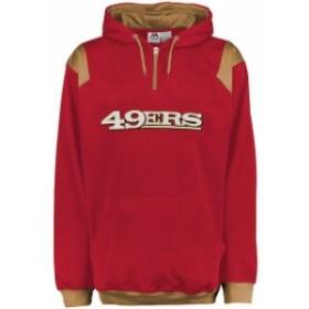 Majestic マジェスティック アウターウェア ジャケット/アウター Majestic San Francisco 49ers Red Big & Tall