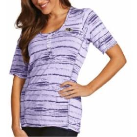 Antigua アンティグア スポーツ用品  Antigua Baltimore Ravens Womens Purple Intent T-Shirt