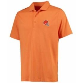 Cutter & Buck カッター アンド バック スポーツ用品  Cutter & Buck Cleveland Browns Orange Chelan DryTec Polo