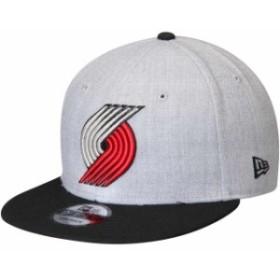 New Era ニュー エラ スポーツ用品  New Era Portland Trail Blazers Heathered Gray/Black 2-Tone 9FIFTY Adjustable Snapba