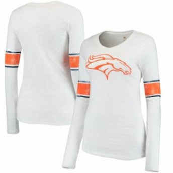 Outerstuff アウタースタッフ スポーツ用品 Denver Broncos Juniors White Team Leader V-Neck Long Sleeve T-Shirt