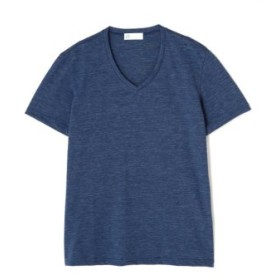 (TORNADO MART/トルネードマート)ZERO by TORNADO MART∴メランジボーダーリンクス半袖カットソー/メンズ ブルー