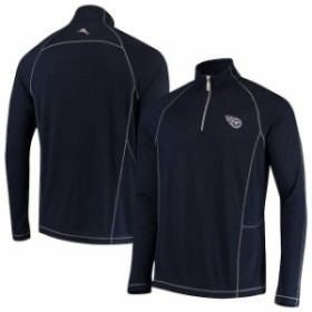 Tommy Bahama トミー バハマ 服 スウェット Tommy Bahama Tennessee Titans Navy Goal Keeper Raglan Quarter-Zip Pullover
