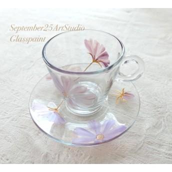 【母の日ギフト】チョコレートコスモス耐熱ガラスのコーヒーカップ・ティーカップ|父の日ギフト・結婚祝い・還暦祝い・誕生日プレゼント・両親贈呈品・新居祝い・結婚記念日