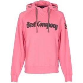 《期間限定セール開催中!》BEST COMPANY メンズ スウェットシャツ ピンク M コットン 100%