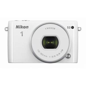Nikon ミラーレス一眼 Nikon1 S2 標準パワーズームレンズキット ホワイト S(中古品)