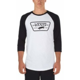 vans バン ファッション 男性用ウェア Tシャツ vans m-full-patch-raglan